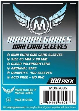 Mayday Card Sleeves: Euro Mini (45x68mm) - 100 stuks