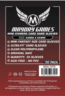 Mayday Card Sleeves (Premium): Mini Chimera USA (43x65mm) - 50 stuks