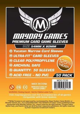 Mayday Card Sleeves (Premium): Yucatan Narrow (54x80mm) - 50 stuks