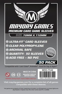 Mayday Card Sleeves (Premium): Magnum Ultra Fit (70x110mm) - 50 stuks