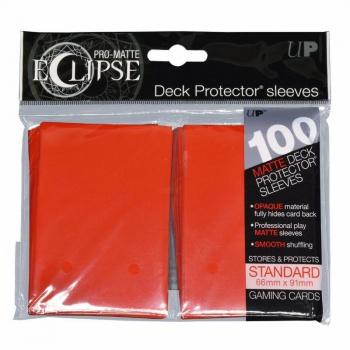 Ultra Pro Eclipse PRO-Matte Sleeves: Standaard Apple Red (66x91mm) - 100 stuks