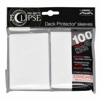 Ultra Pro Eclipse PRO-Matte Sleeves: Standaard Arctic White (66x91mm) - 100 stuks