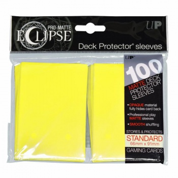 Ultra Pro Eclipse PRO-Matte Sleeves: Standaard Lemon Yellow (66x91mm) - 100 stuks