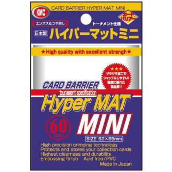 KMC Mini Sleeves (Hyper Mat): Clear (62x89mm) - 60 stuks
