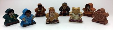 Near and Far: Character Meeples
