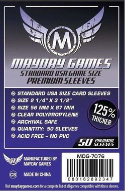 Mayday Card Sleeves (Premium): Standard USA (56x87mm) - 50 stuks