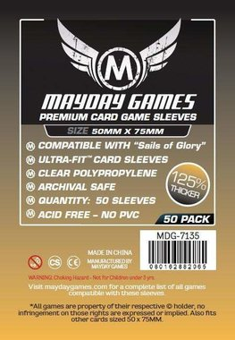 Mayday Card Sleeves (Premium): Custom Sails of Glory (50x75mm) - 50 stuks