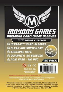 Mayday Card Sleeves (Premium): Magnum Gold Ultra Fit (80x120mm) - 50 stuks