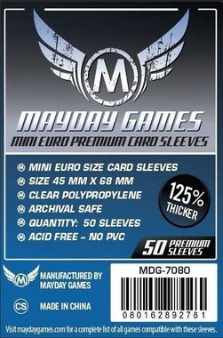 Mayday Card Sleeves (Premium): Euro Mini (45x68mm) - 50 stuks