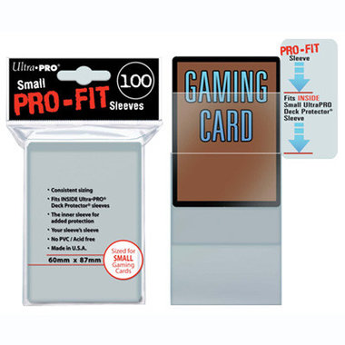Ultra Pro-Fit Board Game Sleeves: Small (60x87mm) - 100 stuks