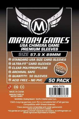 Mayday Card Sleeves (Premium): Chimera USA (57,5x89mm) - 50 stuks