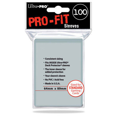 Ultra Pro-Fit Board Game Sleeves: Standard (64x89mm) - 100 stuks