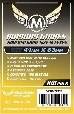Mayday Card Sleeves: Mini USA (41x63mm) - 100 stuks