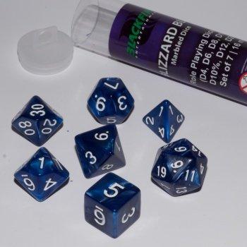 Dobbelstenen Blizzard Blue Polydice (7 stuks)