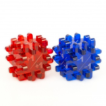 Constructible Dice: Modificator Dice (Blue & Red)