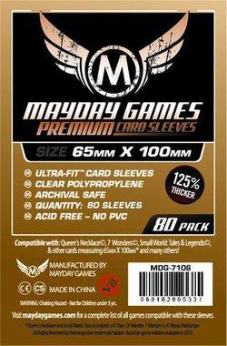 Mayday Card Sleeves (Premium): Magnum Ultra-Fit (65x100mm) - 80 stuks