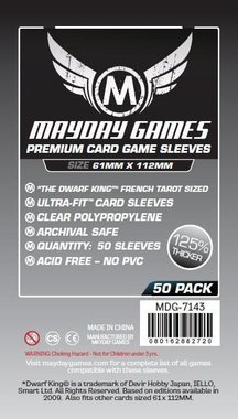 Mayday Card Sleeves (Premium): Dwarf King French Tarot Card Sleeves Magnum (61x112mm) - 50 stuks