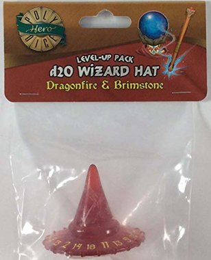 Dobbelsteen PolyHero Hat D20 (Dragonfire with Brimstone)