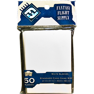 Fantasy Flight Game Sleeves (White): Standard (63,5x88mm) - 50 stuks