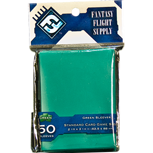 Fantasy Flight Game Sleeves (Green): Standard (63,5x88mm) - 50 stuks