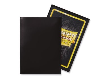 Dragon Shield Card Sleeves: Standard Black (63x88mm) - 100 stuks