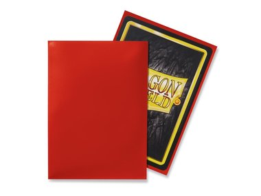 Dragon Shield Card Sleeves: Standard Crimson (63x88mm) - 100 stuks