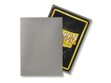 Dragon Shield Card Sleeves: Standard Matte Silver (63x88mm) - 100 stuks