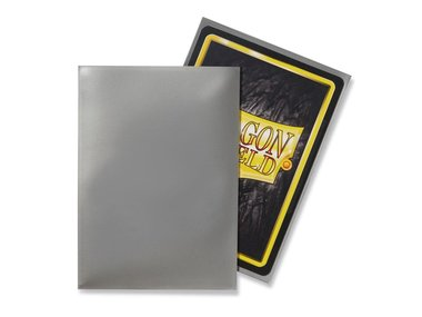 Dragon Shield Card Sleeves: Standard Silver (63x88mm) - 100 stuks