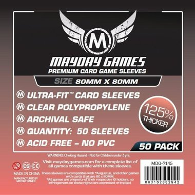Mayday Card Sleeves (Premium): Square Card Sleeves (80x80mm) - 50 stuks