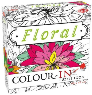 Colour-In Puzzel: Floral (1000)