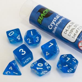 Dobbelstenen Crystal Blue Polydice (7 stuks)