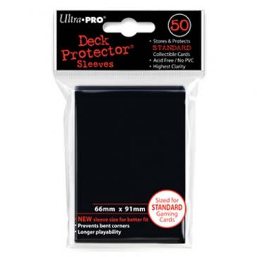 Ultra Pro Board Game Sleeves: Standard Black (66x91mm) - 50 stuks