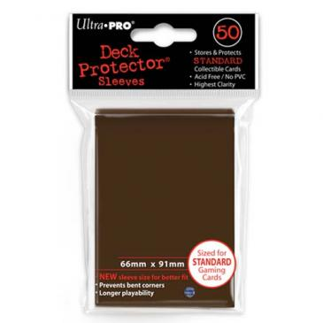 Ultra Pro Board Game Sleeves: Standard Brown (66x91mm) - 50 stuks