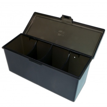 4 Compartment Storage Box (Black)