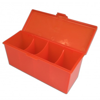4 Compartment Storage Box (Red)