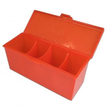4 Compartment Storage Box (Red)