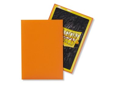 Dragon Shield Card Sleeves: Japanese Matte Orange (59x86mm) - 60 stuks