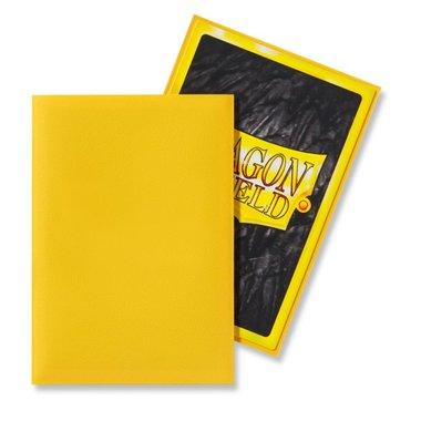 Dragon Shield Card Sleeves: Japanese Matte Yellow (59x86mm) - 60 stuks