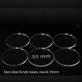 Acrylic Base: Round 55mm (5 Pcs)