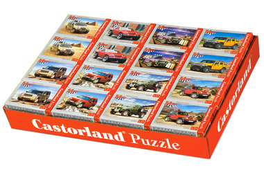 Display met 32 Mini Puzzels: Auto's (54)