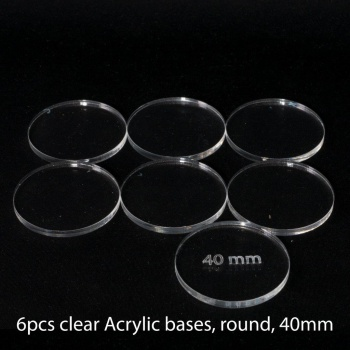 Acrylic Base: Round 40mm (6 Pcs)