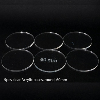 Acrylic Base: Round 60mm (5 Pcs)