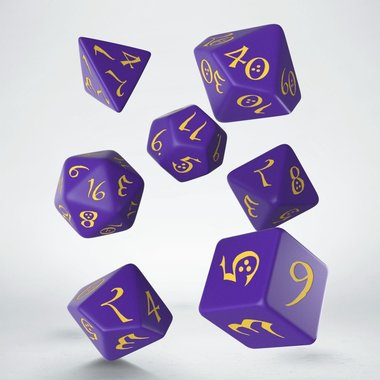 Dobbelstenen Classic RPG Dice Set Purple/Yellow (7 stuks)