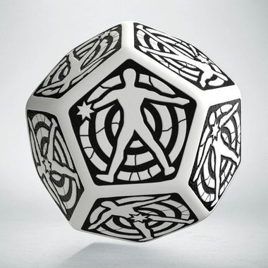 Hit Location Die White/Black D12