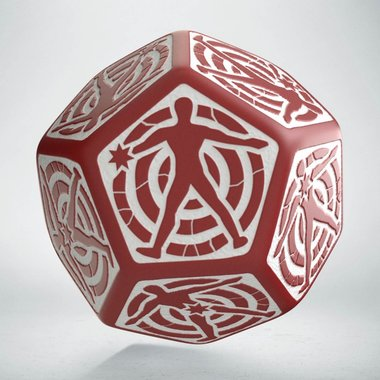 Hit Location Die Red/White D12