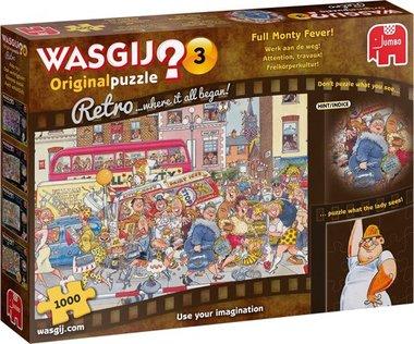 Wasgij Original 3 Retro Puzzel: Werk aan de Weg! (1000)