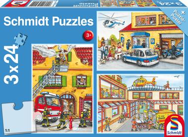Brandweer en Politie - Puzzel (3x24)