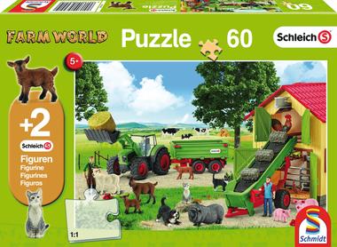 Hooitijd op de boerderij - Puzzel (60) [+ 2 GRATIS SCHLEICH FIGUREN]
