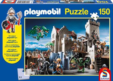 Gevecht om de Koninklijke Schat - Puzzel (150) [+ GRATIS PLAYMOBIL MANNETJE]