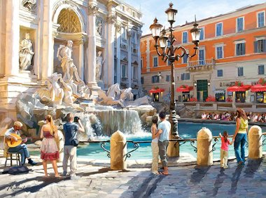 The Trevi Fountain - Puzzel (3000)